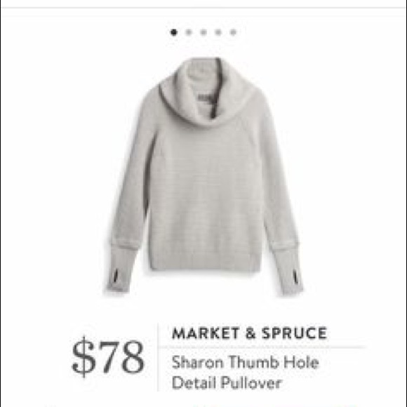 Market Spruce Sweaters Market Spruce Sharon Thumb Hole Pullover